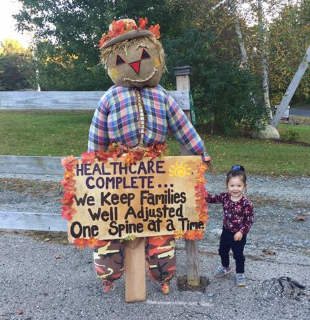 Our Scarecrow with Madison 2018